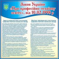 Стенд Закон України Про професійно-технічну освіту (синій)