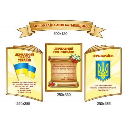 Комплект стендов Государственная символика (4 стенда)