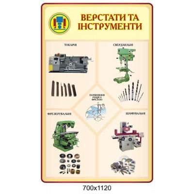 Стенд Вестати та інструменти