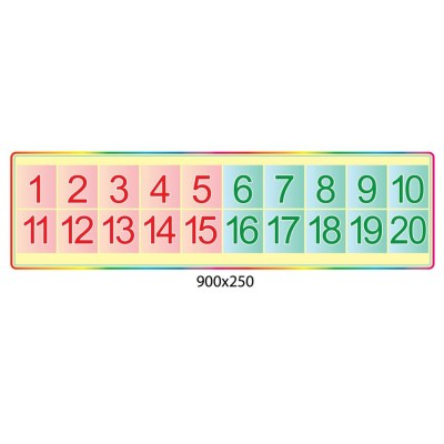 Стенд Числовой ряд (розовый и синий)