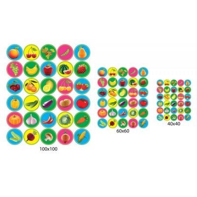 Набор наклеек на шкафчики (разноцветный)