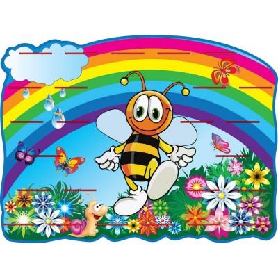 Стенд для размещения лепки Пчела