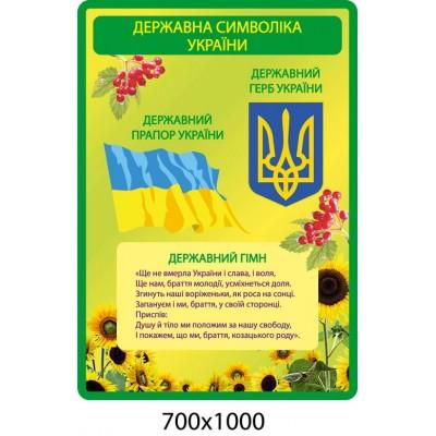 Стенд Государственная символика Украины (зеленый)
