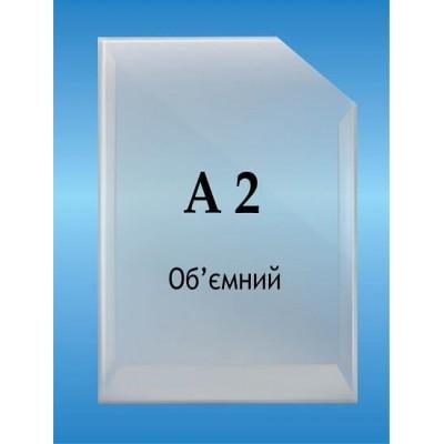 Карман объемный формат А2 вертикальный глубина 2см.
