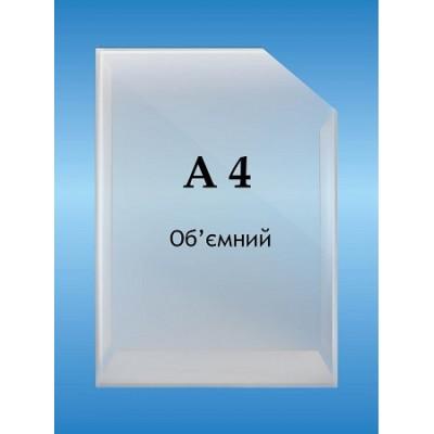 Карман объемный формат А 4 вертикальный глубина 2см.