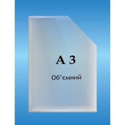 Карман объемный формат А3 вертикальный глубина 2см.