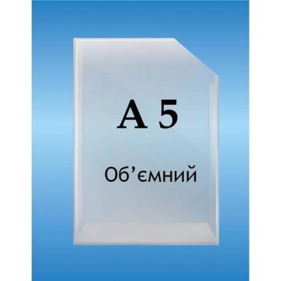 Карман объемный формат А5 вертикальный глубина 2см.