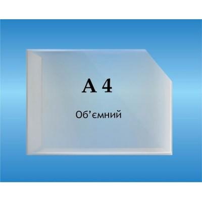 Карман объемный формат А4 горизонтальный глубина 2см.
